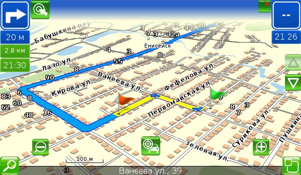 3D режим карты